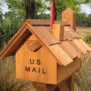 Cedar Wood Mailboxes