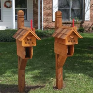 Cedar Mailbox Posts