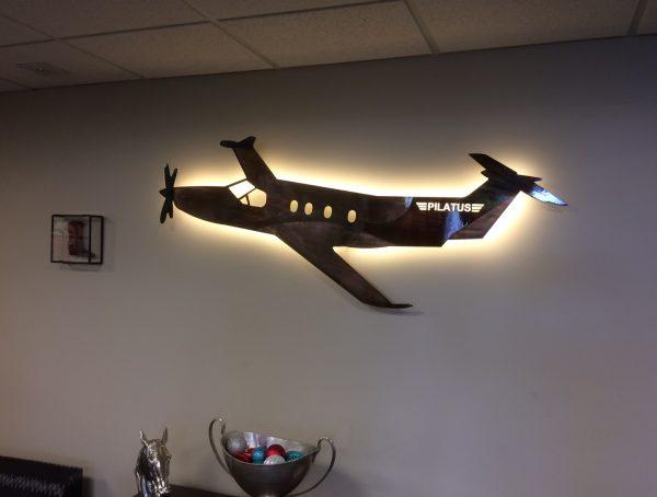 Custom Aviation Metal Art